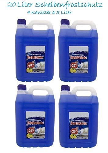 6x 5L Scheibenfrostschutz Frostschutzmittel 30L Waschanlagenzusatz Frostschutz gebrauchsfertig -20C