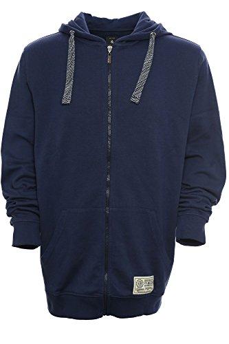 4x Sweatshirt (Kitaro Hoody Zip Kapuzenpullover Sweat Jacke Sweatshirt Herren Extra Lang Tall, Farbe:dunkelblau;Herrengrößen:4XT)