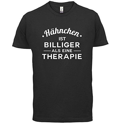 Hähnchen ist billiger als eine Therapie - Herren T-Shirt - 13 Farben Schwarz