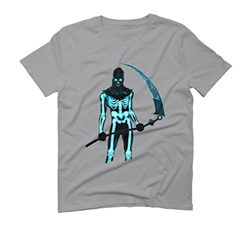 - Demon with a scythe in the fire - Men's Graphic T-Shirt - Design By Humans Opal