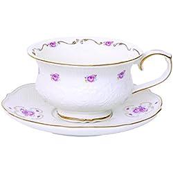 R2S 1511HERI Heritage-Estuche de taza de té y platillo cerámica, 17 X 16,8 X 9,4 cm