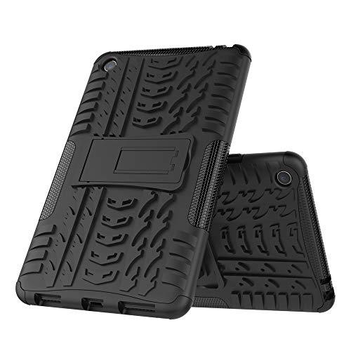 DAYNEW Cover per Xiaomi Mi Pad 4,Telefono stent guscio resistenza goccia, coperchio di protezione profilo del pneumatico 360 gradi armatura resistenza alla caduta,per Xiaomi Mi Pad 4-Nero