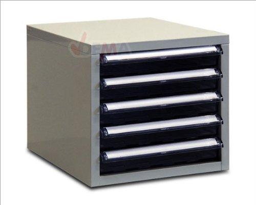 ADB Schubladencontainer/Schubladenbox / Büro Ablagebox/Briefablage aus Metall mit 5 Schubladen,...