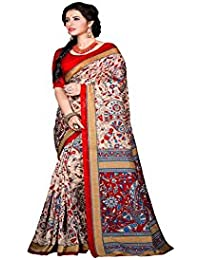 Rajeshwar Fashion Women's Raw Silk Raw Silk Saree (1005 Bhagalpuri Raju_Multi-Coloured)