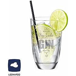 """Leonardo GIN-Glas """"Am Ende ergibt alles einen GIN"""" - lustige Geschenkidee - Weihnachtsgeschenk - Gin Tonic - Geburtstagsgeschenk - Männergeschenk - Geschenk für Frau"""