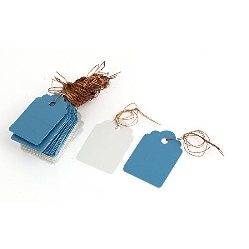 Plastic Graine de plantes Hanging Tag Étiquette Marker 36mmx25mm 40Pcs Blanc Bleu