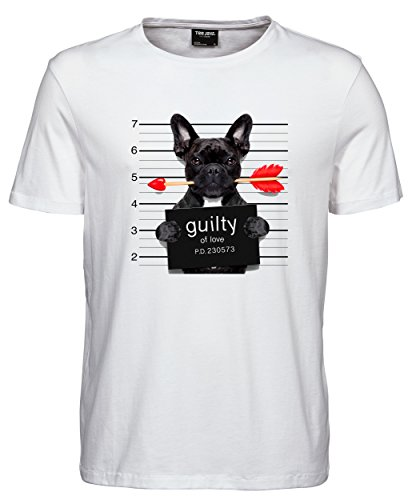 makato Herren T-Shirt Luxury Tee Guilty Of Love White