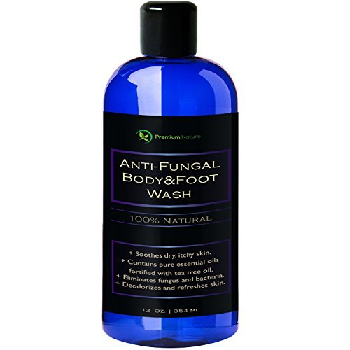 Antifungal Soap Body & Foot Wash - 354 ml with Tea Tree Oil 100% Natural Fungal Defense Care Kills Bacteria Athletes Foot Ringworm Jock Itch - Antibacterial Soap Premium Nature