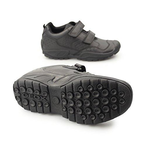 Geox J New Savage E, Sneakers Basses Garçon Noir (Black)