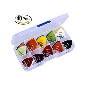 Astro Pick | 40 Plettri per Chitarra | Set da 40 mix di misure 0,58/0,71/0,81/0,96/1,20/1,50 (mm) | Regalo perfetto | Per la chitarra elettrica, acustica, o basso