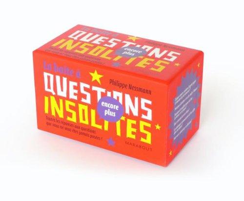 LA BOITE A QUESTIONS INSOLITES 2