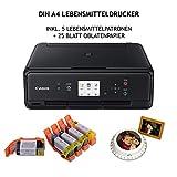 Alimentos Impresora DIN A4Juego completo incluye 5cartuchos de alimentos y 25hojas de papel...