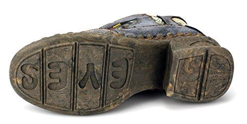 TMA Damen Winter Boots Stiefeletten Warmfutter 5388 Schwarz (schattiert)
