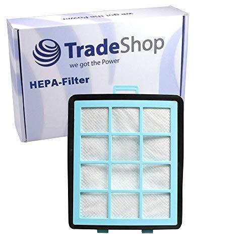 Trade-Shop Premium HEPA-Filter inklusive Schwamm für Philips PowerPro FC8766 FC8766-01 FC8766-61 FC8766-81 FC8767 FC8767-01 FC8767-02 FC8768-01 FC8769 FC8769-01 FC8769-19 FC8769-91 FC8770-91