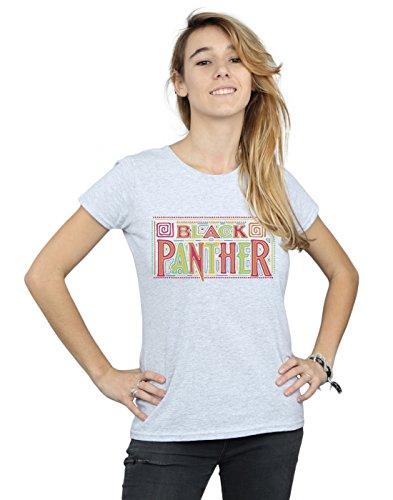 Absolute Cult Marvel Femme Black Panther Tribal Logo T-Shirt Sport Gris