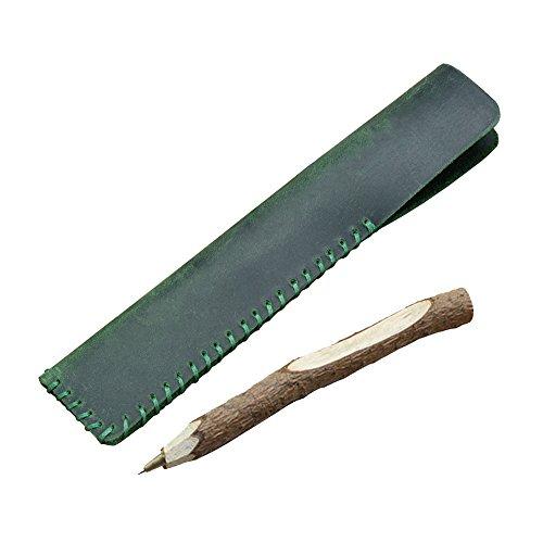 Gossipboy porta penna custodia realizzata a mano in pelle vintage penna stilografica borsa morbida matita manicotto protettivo copertura Green - Casi Fountain Pen