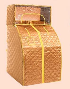 Z&HX-Personal Spa Sauna, Gesichtssauna, tragbar, faltbar, ohne Infrarot-Sauna Gold