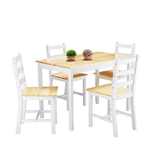 Anaelle Panana - Conjunto Mesa Madera 4 sillas Comedor