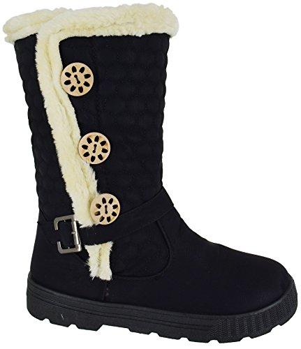 ladies-winter-womens-grip-sole-mid-calf-faux-sheepskin-fur-warm-snow-boots-shoes-size-3-8