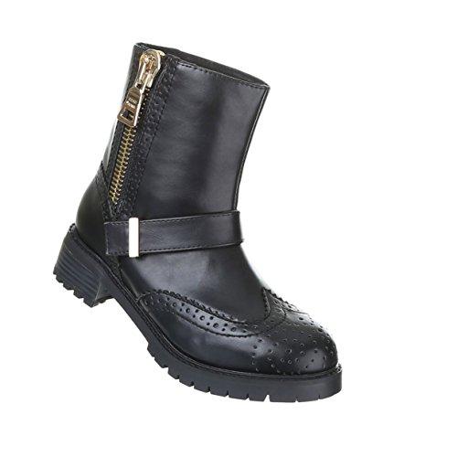 Ankle Boots Alinhados Sapatos Botas Quentes Preto
