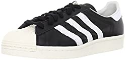 adidas Herren Superstar 80s Gymnastikschuhe, Schwarz (Black 1/White/Chalk 2), 49 1/3 EU