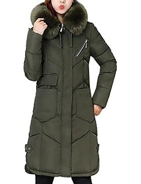 Abrigo de invierno para mujer Sonnena de plumón de pato, largo, para nieve negro Army Green S