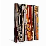 Calvendo Premium Textil-Leinwand 30 cm x 45 cm hoch Elektrische Gitarre | Wandbild, Bild auf Keilrahmen, Fertigbild auf Echter Leinwand, Leinwanddruck Kunst Kunst