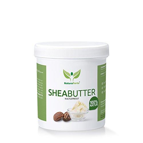 NaturaForte Shea Butter 250g - 100% Rein und Natürlich - Kaltgepresst & Unraffiniert - Spendet Feuchtigkeit - Vegan- (Qualitäts-ID: 506 K 01) Test