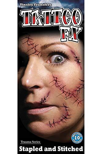 Halloween Fake Tattoo genäht gefälschte (Fake Narben Für Halloween)