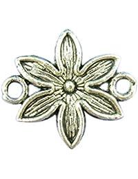 Housweety Bijoux Accessoires 40 Connecteurs Grand Fleur 16*18mm