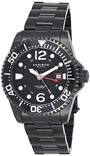 Akribos Xxiv orologio da uomo automatico Diver in acciaio INOX...