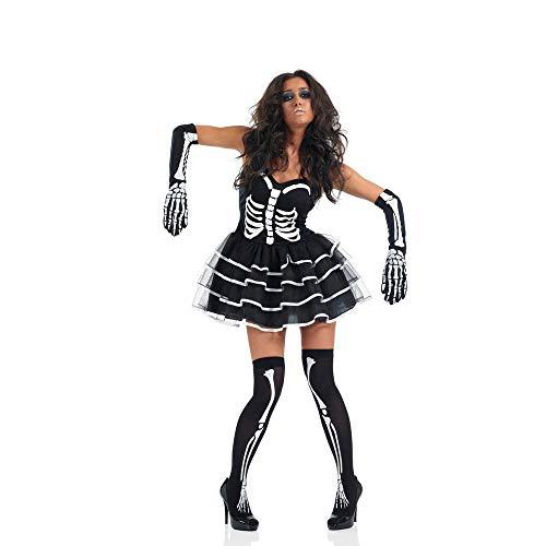 PRTQI Halloween-Kostüm Erwachsene Horror Blutige Cosplay Skelett Zombie-Kostüm,XL (Kostüm Mutterschaft Skelett)