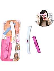 Lomire Original Haarschneide Hilfe Clip - Haare selber schneiden leicht gemacht - Professionelles Haarschneidewerkzeug Set (Rosa)