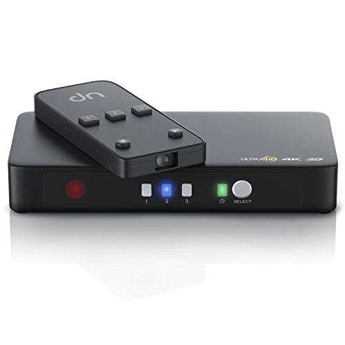 CSL - 4k HDMI Switch 3 Port Ultra HD HDMI Umschalter inkl. Netzteil | 3D Ready Ultra HD UHD 2160p | 3D + CEC | 36-Bit Deep Color | 4k 2160p bei 30 Hz | HDCP Hdmi Box