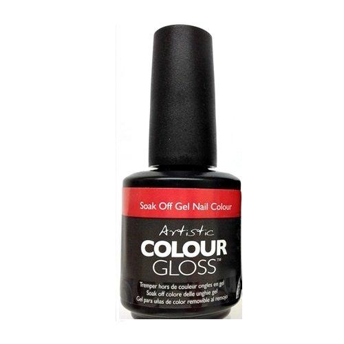 Artistic Nail Design Soak Off Farbe Gloss Gel Hot Red Cherry Politur 3058hotzy (Cherry Red Hot)