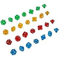 Andux Polyhedral Dice Sets Juego de mesa Dungeons and Dragons DND RPG MTG Juegos de mesa Dices 4 x 7 (28 piezas) TZTZ-01 (#2)