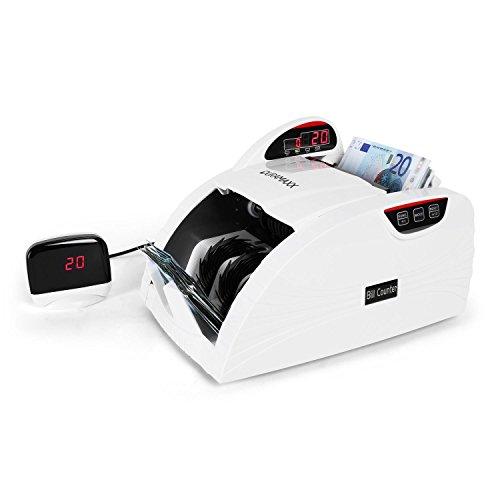 Duramaxx Rockefeller • Geldscheinzählmaschine • Geldscheinzähler • Geldscheinprüfer • LED-Display • Bündel-Funktion • freie Zählung • Festmengenmodus • 3-fache Echtheitsprüfung • weiß