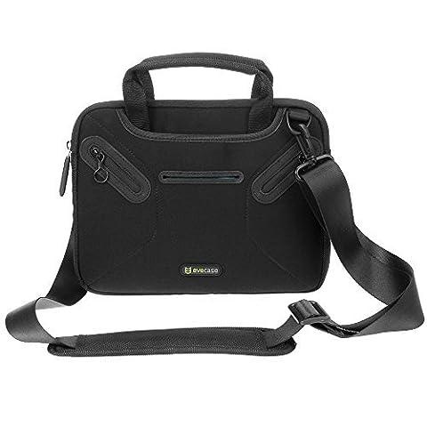 Evecase 8.9 ~ 9.7 Inch Slim Tablet Sleeve Laptop Shoulder Bag Briefcase Carrying Messenger Bag Carrying Case for Apple iPad Air, Samsung, iRULU eXpro, BTC UK, ASUS, Acer, Dragon Touch Tablet-