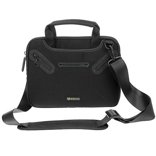 Evecase, Messenger Borsa per Tablet, Custodia in Neoprene con manici Per 10.1 pollici Apple, Acer, Asus, Dell, Google, LG, Lenovo, Samsung, colore: Nero