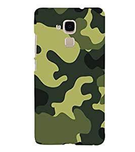 Fuson Designer Back Case Cover for Huawei Honor 5c :: Huawei Honor 7 Lite :: Huawei Honor 5c GT3 (Military design Military print Green yellow Black)