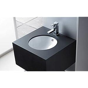 Lavabo bathco de bajo encastre Cerdeña 370 x 170 mm
