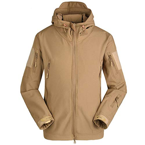 JYJM 2019 Männer Jacke Mantel Jacke Winter Wasserdichte Softshelljacken Windjacke Kleidung Herren Bomberjacke Winterjacke Winter Baumwolle Militär Jacken Pocket Tactical Verdicken Übergangs Mäntel