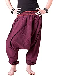 Vishes – Alternative Bekleidung – Sommer Haremshose aus Baumwolle mit super elastischem Bund – handgewebt – LANGE GRÖSSE