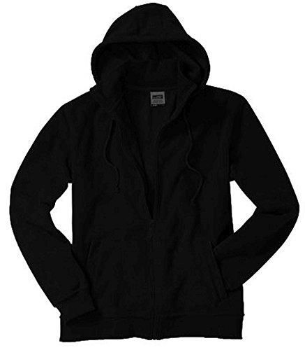 James & Nicholson Microfleece Hooded Jacket Black