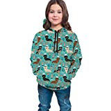 NZ Kinder Teen Girl Boy Hoodies 3D Print Dackel Matrosen Seehund Muster Sweatshirt Tasche Pullover Hoodie für 6-20Y