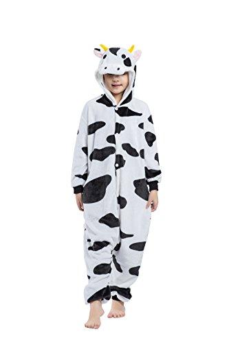 CuteOn Unisex Childrens Tier Pyjamas Onesies - Mädchen Junge Homewear Sleepsuit Cosplay Kostüm Kühe 110(Vorschlagen Höhe (Junge Tier Kostüm)