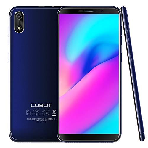 CUBOT J3 (2018) 16GB Pantalla 18:9/5.0' Android GO Reconocimiento Facial Dual Sim, Cámara Trasera 8MP / Frontal 5MP, Procesador Quad-Core MT6580, WiFi, Bluetooth,GPS, 2G 3G 2000 mAh Azul