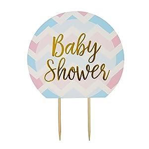 Neviti CSC Imports Juego de decoración para Tarta para Obras, Baby Shower