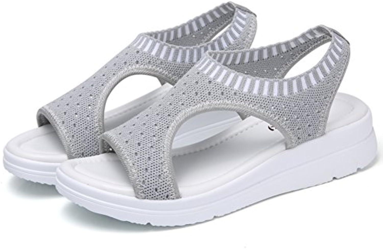 rencontré rxl summer, summer, summer, dame et plat, maille chaussures sandales b077bzdd1g un parent | Commandes Sont Les Bienvenues  002574