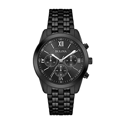 Bulova Men's Classic 40mm Black IP Steel Bracelet & Case Quartz Watch 98A164